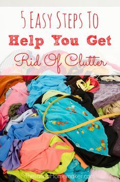 Is clutter taking over your home? Not sure where to start? Check out these 5 tips on how to get rid of clutter plus a free printable to help you through the sorting process.