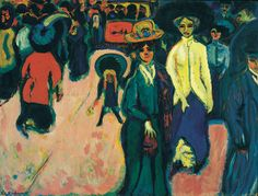 Ernst Ludwig Kirchner, Street, Dresden, 1908 (dated 1907), Oil on canvas, (die Brücke/The Bridge)