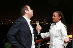 Outfest supporter and Sony Pictures EVP of Worldwide Marketing George Leon with Chef Charisse Mitchell of Miso Full.