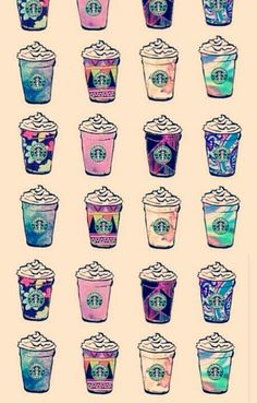 starbucks background pattern - Pesquisa Google