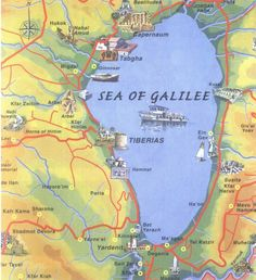 Here you find a collection of maps about Sea of Galilee for you to download and/or to print. These maps are coming from the public domain.