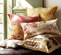 Guiliana Palampore Embroidered Lumbar Pillow Cover | Pottery Barn