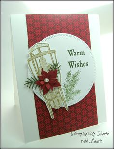 stamping up north with laurie: Warm Wishes