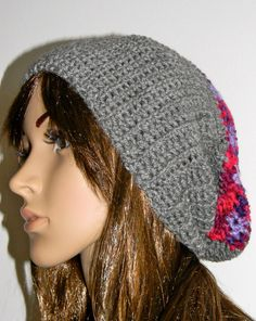 Extra Slouched Beanie Abstract Grey Beanie Modern by MarkofMary, $18.95