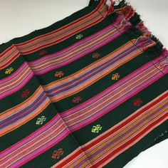 Dark Green Handwoven and Embroidered Placemats, Chiapas