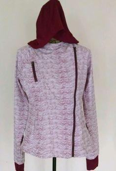 Women's Athletic Fitness Hoodie Jacket Mondetta Pullover Zippered Size Large #Mondetta #ZipHoodie