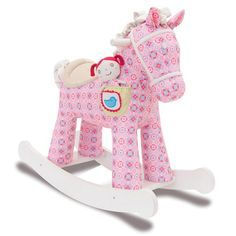 5b32f53c04b6 Doodle and Crumb Infant Rocker Rocking Horse red fabric Child Gift ...