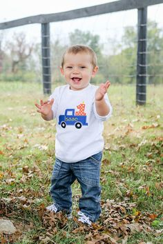 Personalized Birthday Shirt Truck with Number Applique SHORT SLEEVE on Etsy, $20.00. Truck birthday