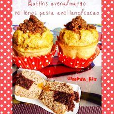 ineva_fit @ineva_fit | Websta muffins de avena y mango rellenos de pasta de cacao y avellana sin azúcar