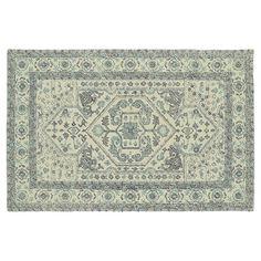 Kaleen Montage Heriz Framed Floral Wool Rug,