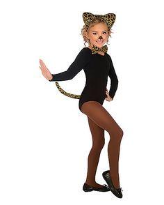 Girls Leopard Cat Kit - Spirithalloween.com