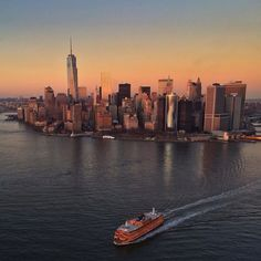 New York City Feelings - Staten Island Ferry by water town   @nyonair...