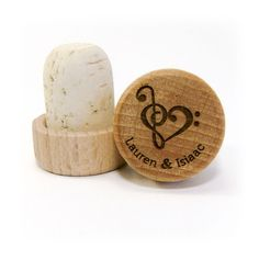 Perfect Wedding Favor For Musicians Music And Their Friends This Adorable Stopper Heartbabyshowerpersonalized Wine