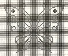 Patrones de ganchillo para imprimir, mariposa