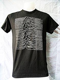 Joy Division  Women T-Shirt Unknown Pleasures Black Short Sleeve Unisex Tee Shirt Indie Punk Rock Men T-Shirt Size M