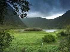 Picture of hikers in La Reunion National Park, Reunion Island   Photograph by Spani Arnaud, Hemis/Corbis