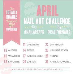 April nail challenge!!