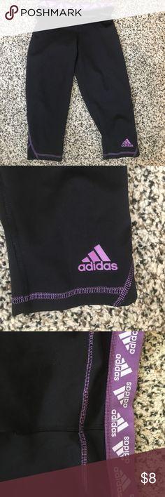 Adidas performance leggings Black adidas performance leggings with purple detailing adidas Pants Leggings