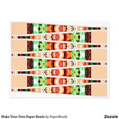 Make Your Own Paper Beads Letterhead