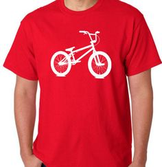 BMX T-shirt.. WHITE Ink ... .S - M - L - Xl -2Xl... Your choice shirt color on Etsy, $14.95