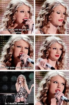 Taylor introducing Teardrops On My Guitar during the Fearless Tour (gifset: http://youtaughtmeaboutyourpast.tumblr.com/post/97686021877/taylorswift):