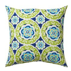 Home Decorators Collection 16 in. Halina Wasabi Square Outdoor Throw Pillow
