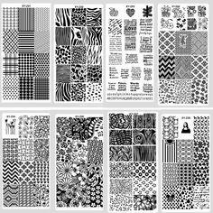 1pcs Konad Stamping Stencils For Nails Art Print Plate Stamp Decorations Nail Polish Stencil Tools Accessories