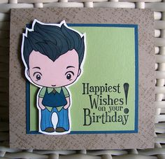 The Greeting Farm Ian card, also featuring Stampin' Up! Rough Texture Wheel and Happiest Birthday Wishes