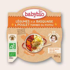 Mon P'tit Plat - Légumes à la Basquaise & Poulet fermier du Poitou - dès 15 mois - Produit en France - Babybio
