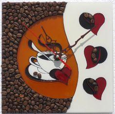"Столярова Лариса. Мини часики ""Влюбленным в кофе"""