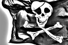Pirate Art - The Jolly Roger flag  by Micah May