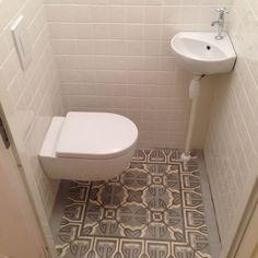 small toilet art deco tiles spanish tiles
