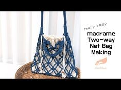 [gitdeul macrame] 마크라메 투웨이 네트백 만드는 방법/DIY macrame two-way net bag - Смотреть видео бесплатно онлайн Macrame Purse, Macrame Plant Hangers, Macrame Jewelry, Macrame Knots, Clove Hitch Knot, Crochet Tree, Net Bag, Craft Bags, Macrame Projects