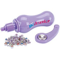 As Seen On TV 'The Mini Bedazzler Tool'    http://www.overstock.com/Crafts-Sewing/As-Seen-On-TV-The-Mini-Bedazzler-Tool/3410565/product.html