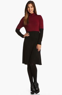 Karen Kane Colorblock Turtleneck Dress available at #Nordstrom