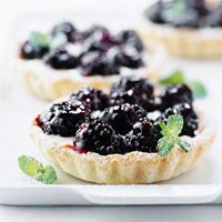 Lemon-Blackberry Mini Tarts (can't wait for blackberry season so I can make this!)