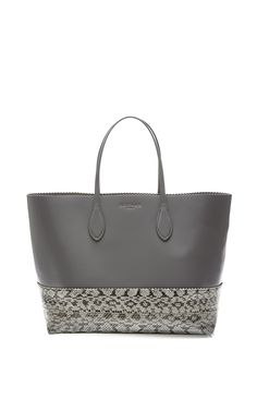 I love the snakeskin around the bottom of this Large Snakeskin and Leather Tote by Rochas @Moda Operandi