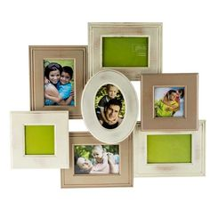 2-Toned White 7-Opening Clustered Collage Frame