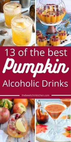 13 Of The Best Pumpkin Alcoholic Drinks to sip on after a long day at work, entertaining guests, or when you crave pumpkin. Simple, delicious homemade pumpkin cocktails to consider this fall. #pumpkin #fall #alcoholic #drink #cocktail #entertaining Easy Drink Recipes, Sangria Recipes, Punch Recipes, Yummy Drinks, Cocktail Recipes, Fall Recipes, Pumpkin Cocktail, Pumpkin Drinks, Pumpkin Recipes