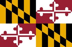 """Illustration: Maryland state flag. Credit: Wikimedia Commons. Read more on the GenealogyBank blog: """"Maryland Archives: 125 Newspapers for Genealogy Research."""" https://blog.genealogybank.com/maryland-archives-125-newspapers-for-genealogy-research.html"""