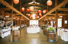 Rustic warmth and just enough dance space for a party.