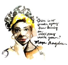 Maya Angelou by Katie Rodgers