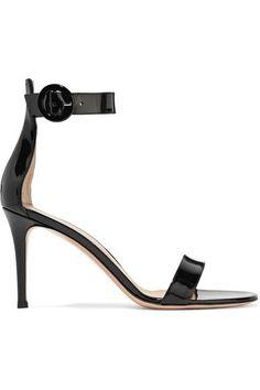 Gianvito Rossi - Portofino Patent-leather Sandals - Black - IT41.5