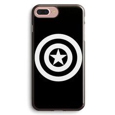 Captain America Shield Black & White Apple iPhone 7 Plus Case Cover ISVC011