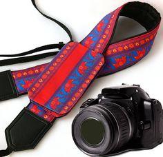 Camera Strap with Pocket. DSLR / SLR Camera Strap. Lucky elephant Camera Strap. Camera accessories. For Sony, canon, nikon, panasonic, fuji and other cameras.