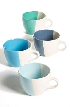 Gibson Half-Dipped Mugs (Set of 4) available at #Nordstrom