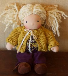 waldorf doll inspiration...hand knit sweater