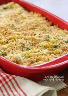 Skinny Baked Broccoli Macaroni and Cheese – Cheesy macaroni and ...
