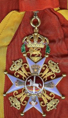 Brunswick German State House Order of Henry the Lion Grand Cross Badge.