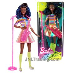 Year 2017 Barbie and The Rockers Series 12 Inch Doll - African America – JNL Trading Barbie Doll Set, Barbie Sets, Barbie Skipper, Barbie And Ken, Baby Girl Toys, Baby Dolls, Dolls From The 80s, Diy Barbie Clothes, Barbie Dream House